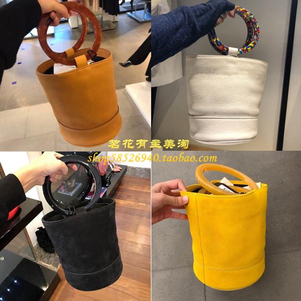 美國代購simon miller bonsai 金屬圓環盆栽包手提女包麂皮水桶包
