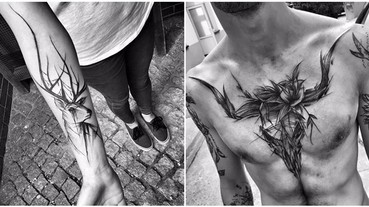 這個女紋身師直接在客人身上打草稿,結果每天都有人獻出皮膚