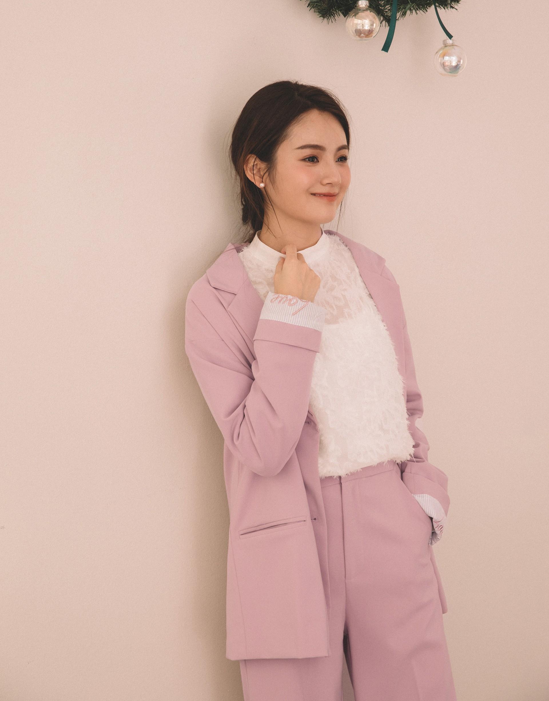 PAZZO+韓妞休閒刺繡造型西裝套裝