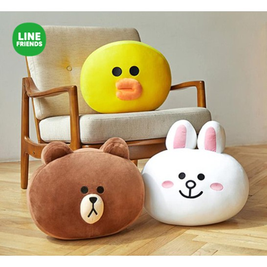 LINE FRIIENDS 抱枕 系列2 (38公分 - 熊大, 兔兔, 雷納德) - 韓國直送