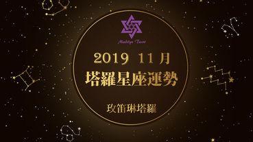玫笛琳2019年11月塔羅星座運勢每月五日更新