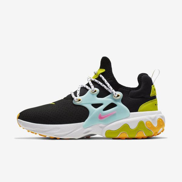 NIKE W REACT PRESTO [CJ0554-001] 女鞋 慢跑 運動 休閒 舒適 透氣 輕量 避震 黑藍