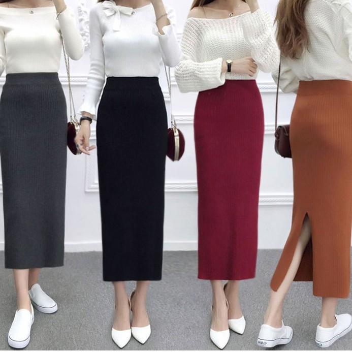 (D-648) - A字裙毛邊牛仔裙女學生高腰包臀半身裙