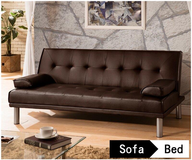 !新生活家具!心之綠洲咖啡色 皮沙發床 三人位沙發床 限時特價 三色可選 非 ikea 宜家