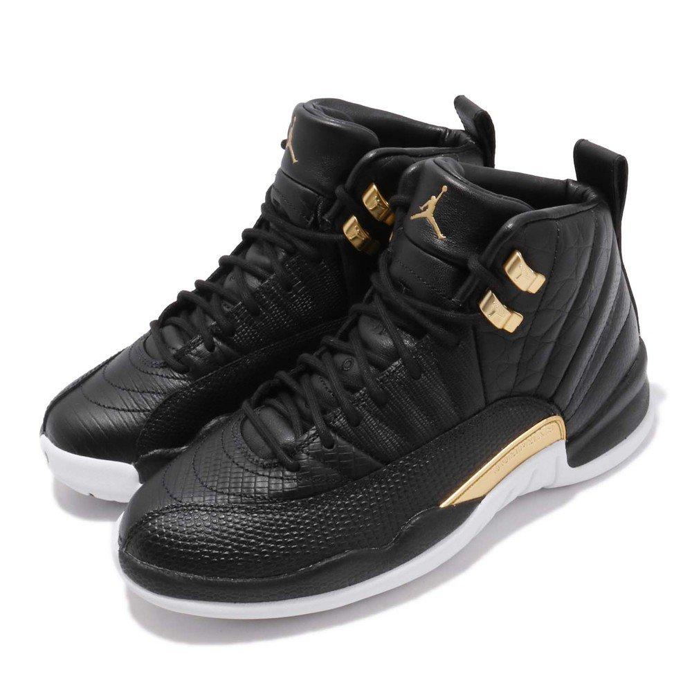 經典喬丹籃球休閒鞋品牌:NIKE型號:AO6068-007品名:AJ 12 Retro配色:黑色,金色