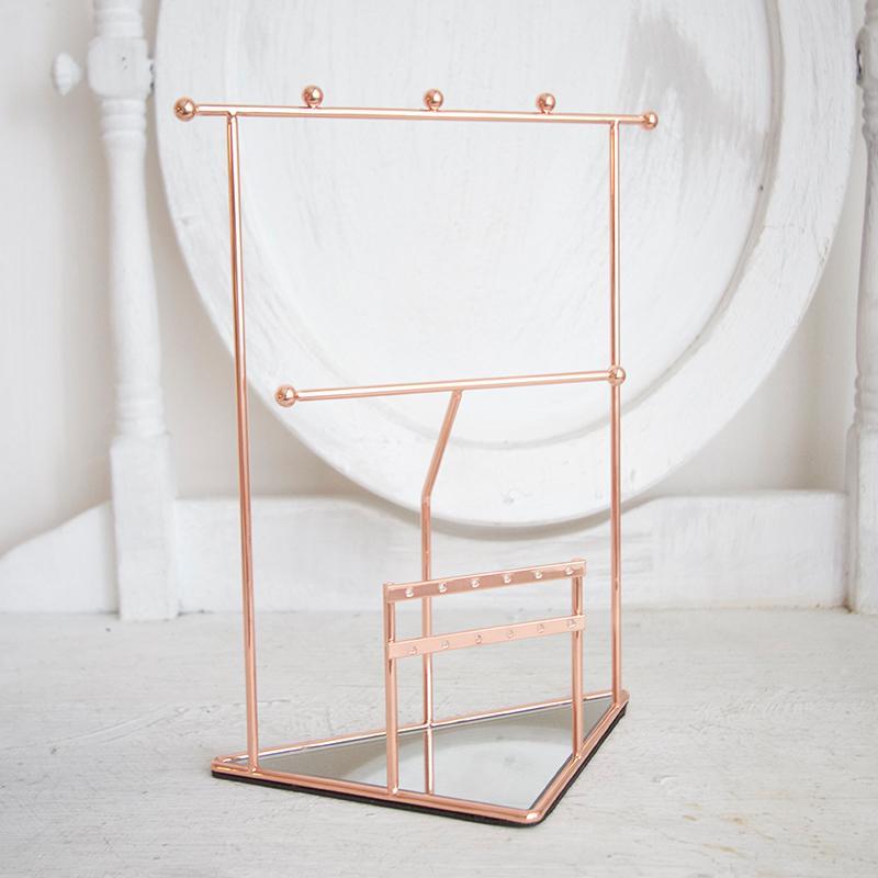 三角鏡面飾品展示架