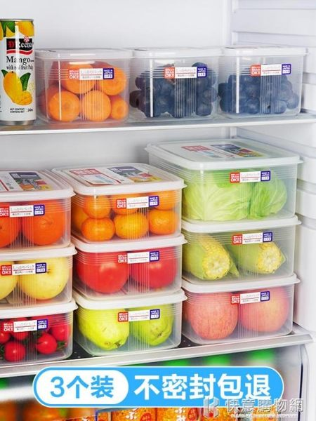 日本進口冰箱收納盒水果保鮮盒廚房塑料長方形輔食家用食品密封盒 快意購物網