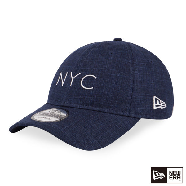 NEW ERA 9FORTY 940UNST 亞麻布料 NYC 海軍藍