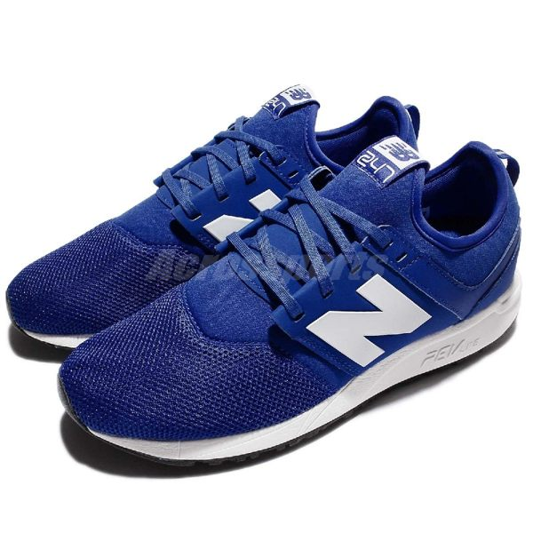 【六折特賣】New Balance 慢跑鞋 NB 247 Classic系列 藍 白 休閒鞋 運動鞋 男鞋【PUMP306】 MRL247BWD
