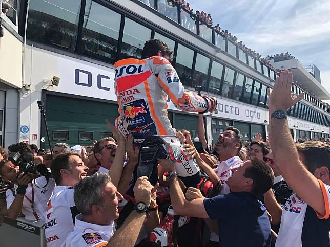 Marc Marquez menang MotoGP San Marino