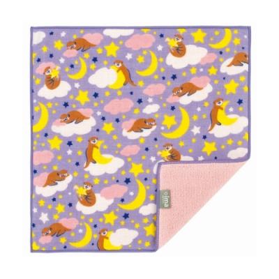 日本派迪 今治製有機優質純綿方巾-晚安水獺