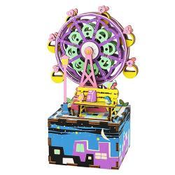 ◎精緻工藝切割,質感的DIY音樂盒|◎|◎商品名稱:DIY木製音樂盒-摩天輪AM402種類:手作類適用年齡:8歲以上角色:沒有特殊角色特色:可組裝,模型,立體材質:木製品尺寸:組合尺寸100*76*1