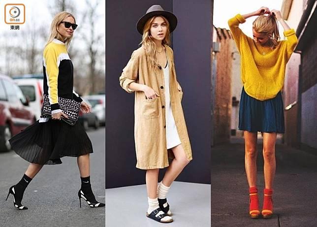 無論是涼鞋波鞋甚至是高踭鞋,只要加多對襪配搭下,就可令一身型格裝扮更完整。(互聯網)