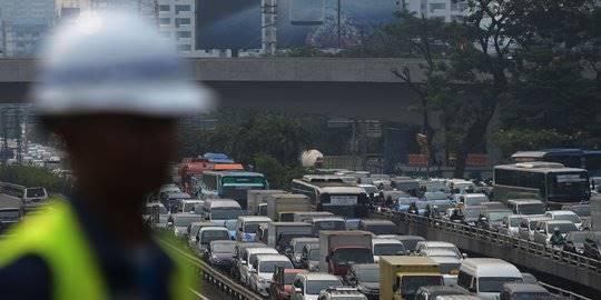 Kemacetan Jakarta. ©2017 merdeka.com/imam buhori