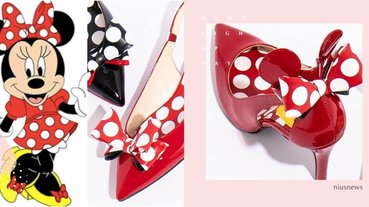 點點蝴蝶結神還原!迪士尼聯名推超萌「米妮鞋」,一轉身整顆米妮大頭萌暈路人