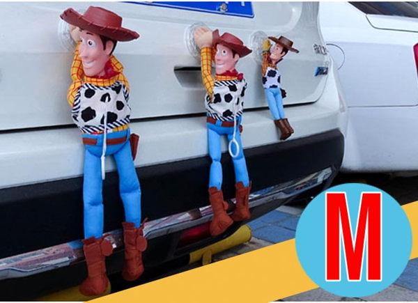 33cm M尺寸 胡迪 胡迪掛飾 汽車裝飾娃娃 裝飾貼 玩具總動員 搞笑胡迪 外部裝飾 公仔車頂 機車吊飾