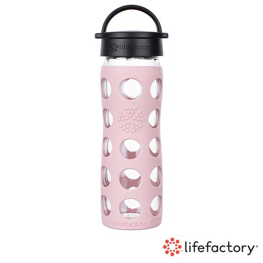 【Lifefactory】玻璃水瓶平口475ml-粉紅