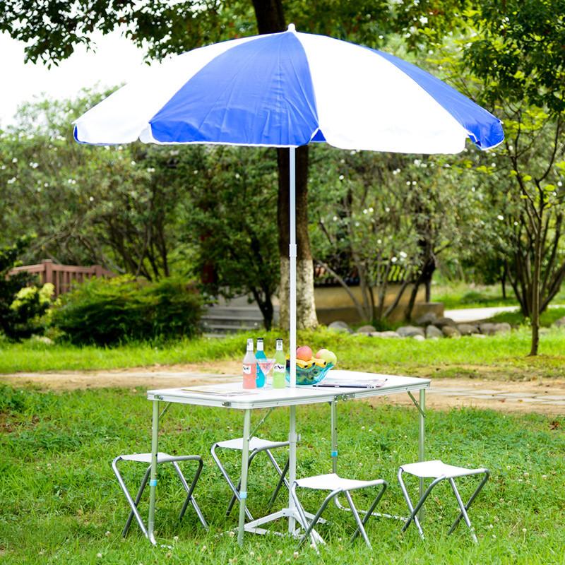 戶外傘藍語戶外遮陽傘 雨傘 廣告傘 底座 2米折疊太陽傘lx