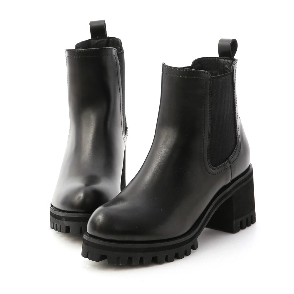 D+AF 歐美風尚.厚底高跟切爾西短靴