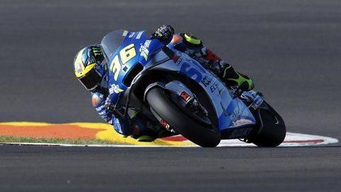 Joan Mir sering marah-marah kepada pembalap lain di MotoGP 2021. (AP/Armando Franca)