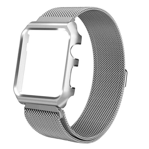 錶帶蘋果手錶錶帶2/3/iwatch4代不銹鋼運動38/40/42/44mm男女生創意原裝通用卡扣款