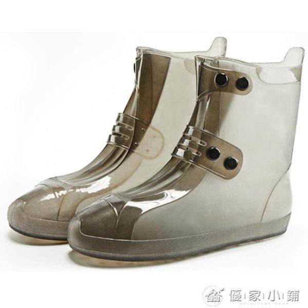 鞋套防水雨天防滑加厚耐磨底成人雨鞋套男女防雨下雨仿硅膠水鞋套 優家小鋪