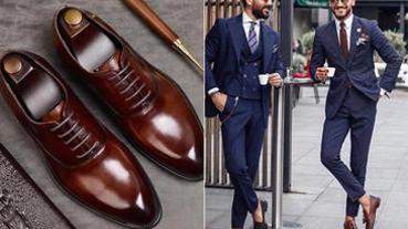 型男必備6款「經典皮鞋」,打造成熟時髦的紳士品格!