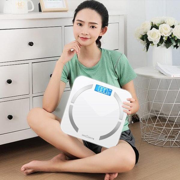智能體脂稱家用小型成人精准電子秤小巧體重秤人體減肥稱測脂肪女