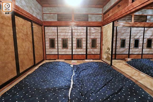 設有3個塌塌米的休息空間,最多可供10人使用。(李家俊攝)