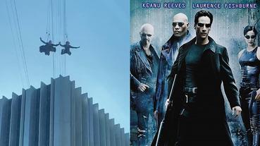 不靠綠幕特效!《駭客任務 4》實景拍攝「跳躍高樓大廈」驚險場面,基努李維合體凱莉安摩絲!