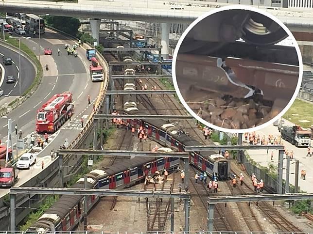 早上約8時半,東鐵線有列車出軌,至少8人受傷。