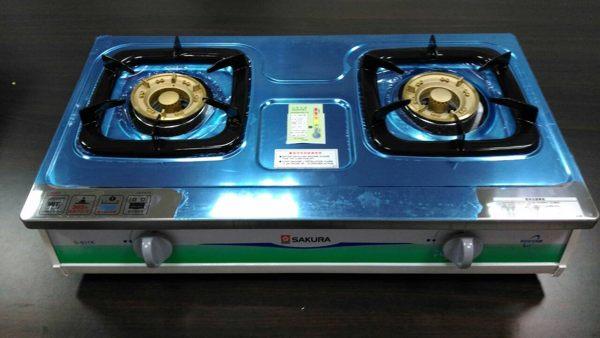 【中彰投電器】櫻花不鏽鋼雙口安全瓦斯爐(天然),G611K(SLN)【全館刷卡分期+免運費】