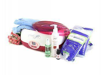 玫瑰或薰衣草 精油蜜蠟機保養組合n蜜蠟5磅、乳液、深層按摩精油、清潔噴霧、布手套、蜜蠟機