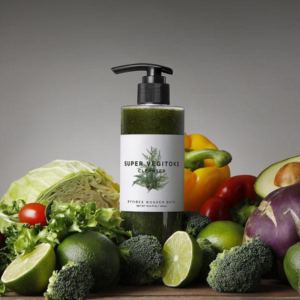 ●魅力十足● 韓國 WB 綠茶 SUPER VEGITOKS 蔬菜深層潔膚乳卸妝洗面乳 WB wonder bath