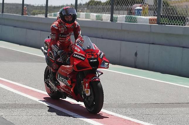 Pembalap Ducati Lenovo Team, Francesco Bagnaia. REUTERS/Pedro Nunes