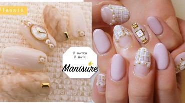 少女味UP!日本流行的手錶指甲超可愛,沒想到指甲也可以戴手錶啊~