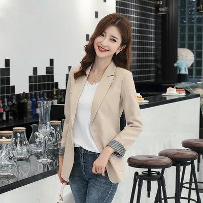 韓系 修身職業OL小西裝外套女