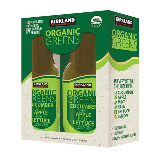 科克蘭 有機綠色蔬果汁 1公升 X 2瓶入