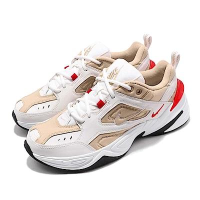 品牌: NIKE型號: AV4789-102品名: Nike M2K Tekno配色: 米白色 紅色特點: 經典 老爹鞋 復古 穿搭 運動 球鞋 舒適 透氣 米白 紅