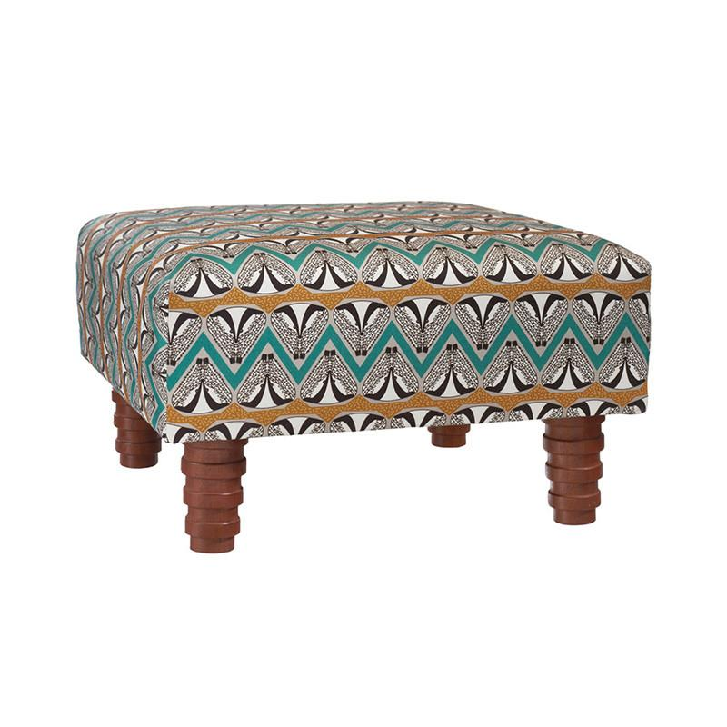 蘇格蘭蜜獾跳舞方型椅凳 - 土金色