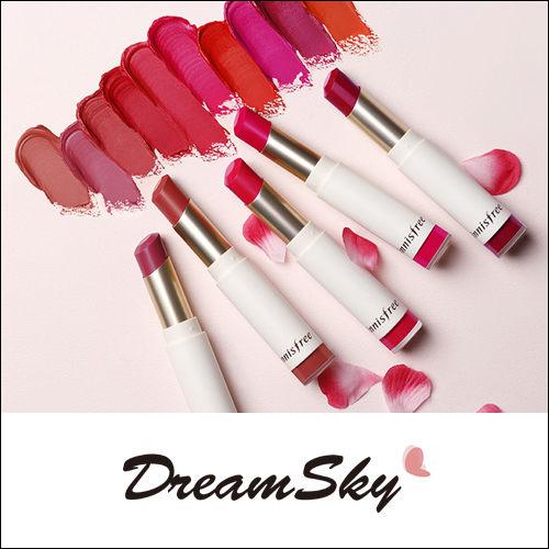 韓國 innisfree 春季 天鵝絨 唇膏 韓妝 咬唇妝 唇彩 霧面 絲絨 裸色 粉嫩 潤娥 (3.5g/支) DreamSky