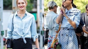9種襯衫的時髦穿法,時裝週場外的名人來示範!