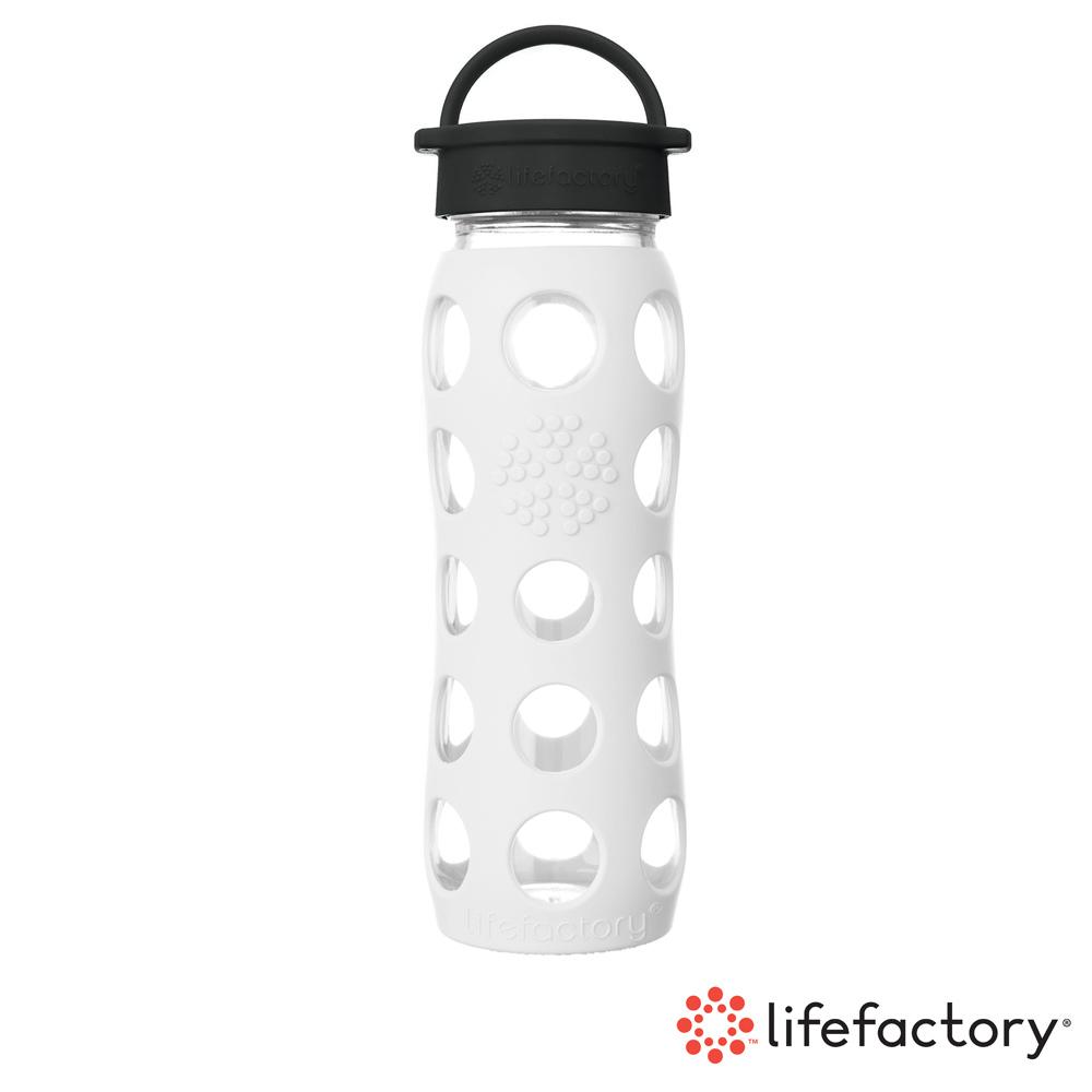 【Lifefactory】玻璃水瓶平口650ml-白