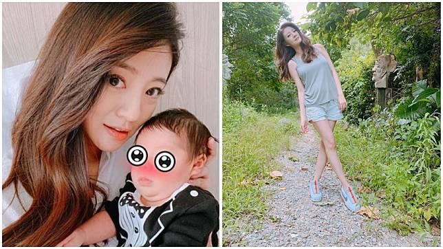 女星安以軒去年生下兒子「66」,產後她身材迅速恢復。(圖/翻攝自安以軒臉書粉絲團)