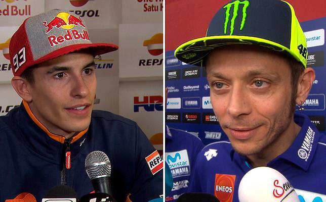 Kembali Panas! Valentino Rossi Sindir Marc Marquez Lewat Sosial Media