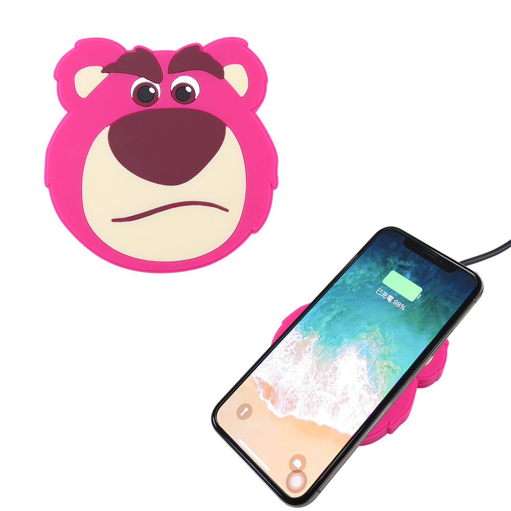 Disney迪士尼 熊抱哥 可愛大頭無線充電座/充電板