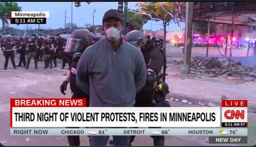 CNN reporter Omar Jimenez is being arrested while reporting on the aftermath of a night of rioting in Minneapolis, United States on Friday. Police in Minneapolis released aCNNreporterwho was led off in handcuffs along with his film crew while reporting live on television early Friday morning during violent protests in the city.