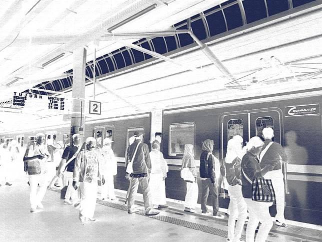 Ilustrasi Stasiun Gondangdia (Foto Setiyo)