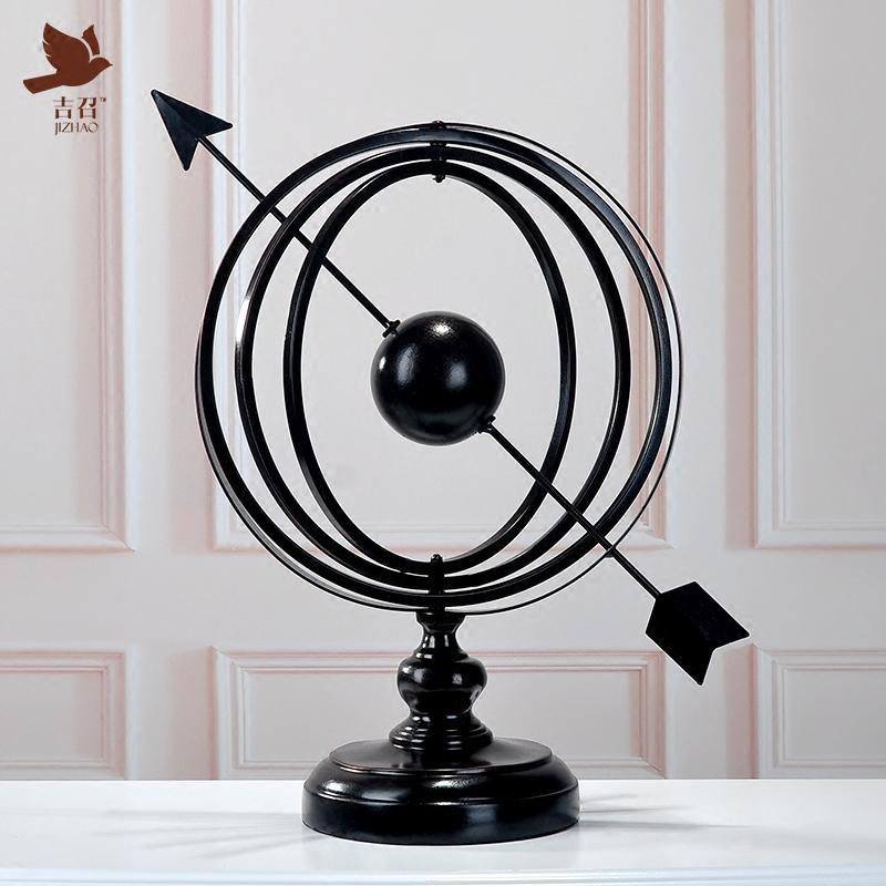 歐式地球儀擺件創意家居裝飾品客廳工藝品辦公室桌面擺設開業禮品1入