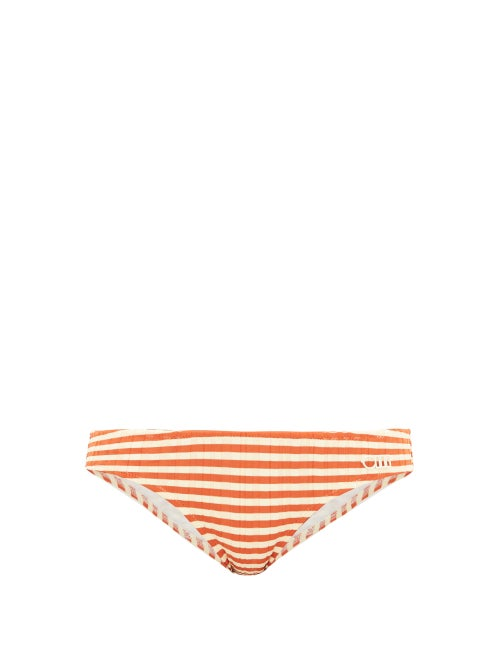 Solid & Striped - Create timeless poolside looks with Solid & Striped's orange The Elle bikini brief